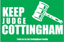 judicial campaign signs